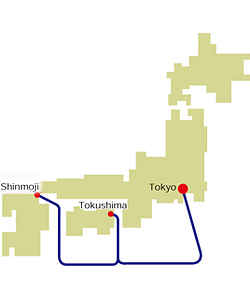 Tokyo Port Ferry Route