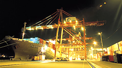Cargo handling at night as well